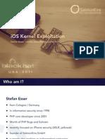 BH US 11 Esser Exploiting the iOS Kernel Slides