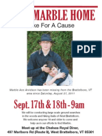 Hike for a Cause to find Marble Arvidson