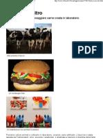 Mangereste Carne Creata in Lab Oratorio