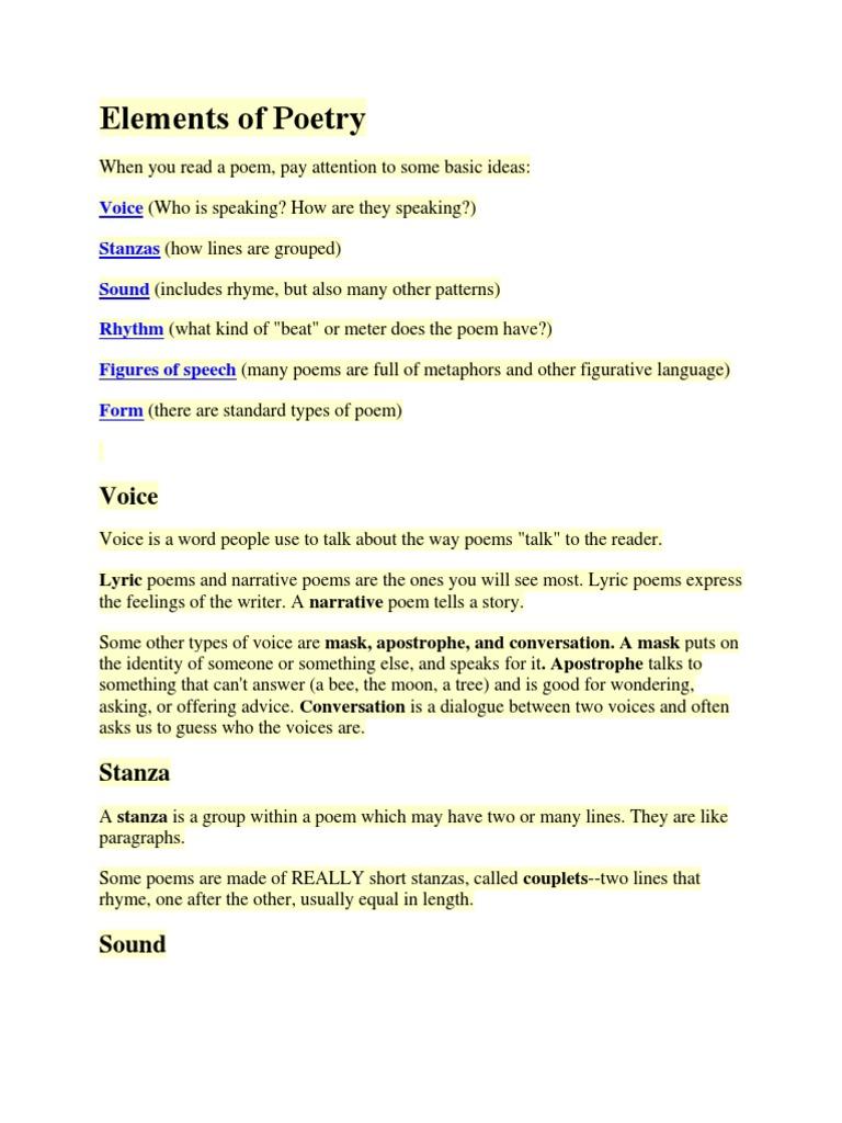 Elements of Poetry | Metre (Poetry) | Poetry