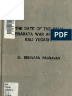 The date of the Maha Bharata war and the Kali Yugadhi (1891) - K. Srinivasa Raghavan