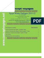 Concept Voyages' Egypt Winter Packages 2011-12