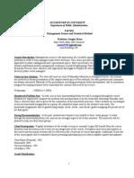 ! Syllabus 11 Management Science & Statistical Method
