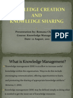Knowledge Creation & Knowledge Sharing