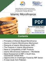 Islamic Micro Finance by Muhammad Zubair Mughal, ADBI International Seminar