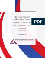 U.S.-Russia Relations in Post-Soviet Eurasia