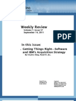 Getting Things Right—Software and IBM's Acquisition Strategy