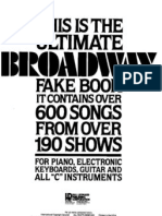 Vocal Score - The Ultimate Broadway Fakebook
