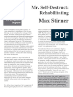 Mr. Destruct- Rehabilitating Max Stirner by Benjamin Ingram
