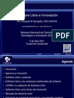 Software Libre e Innovacion