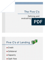 The Five C's of Lending