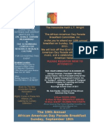 African American Day Parade Breakfast Invite
