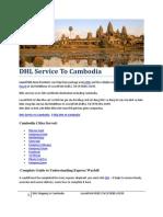 DHL Service to Cambodia