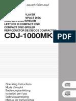 Cdj-1000mk3 Manual en Fr de Nl It Es
