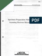 Jeol App. Note - SM43 - Specimen Preparation Methods for Scanning Electron Microscopes