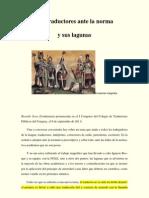 Los Traductores Ante La Norma y Sus Lagunas