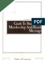 Guide to Successful Members Hi and Board Meetings