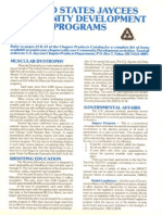 United States Jaycees Community Development Programs (c)1987 - REVISED 1988