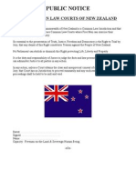Public notice - the common law courts of New Zealand