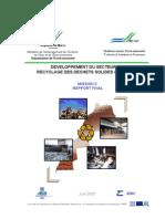 Developpement Du Secteur de Recyclage Des Dechets Solides Au Maroc