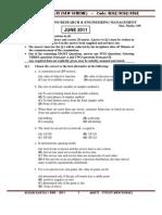 J11 Question Paper