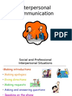 Interpersonal Communication Revised Notes