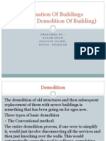Detonation of Buildings