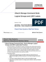 Hitachi Storage Command Suite Logical Groups and Ldev Labels