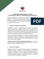 Definiciones Estadisticas Ley 16744