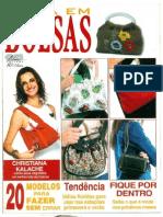 01 - Moda Em Bolsas - 20 Modelos de couro, tecido,macramê e juta  - nº 07