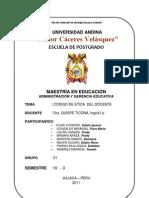 CÓDIGO ÉTICO DEL DOCENTE