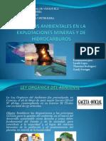 Aspectos ambientales en la explotación minera y de hidrocarburos