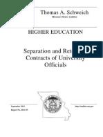 Schweich Higher Education Audit