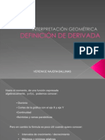 interpretacion de derivadas