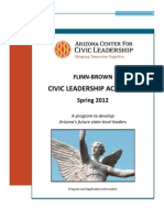 Spring 2012 Flinn Brown Civic Leadership Academy