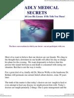 3 Deadly Medical Secrets