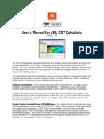 User's Manual for CBT Calculator Rev 1.00 100312