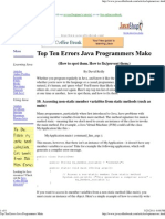 Top Ten Errors Java Programmers Make