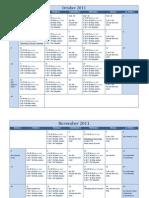 Winter 2011 Team Calendar Through December