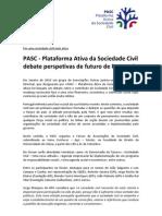PASC Debate Futuro de Portugal