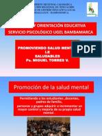 Servicio Psicológico  UGEL Hualgayoc  Bambamarca  Promoción de la salud mental