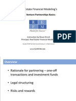 Real Estate Joint Venture Partnerships Basics