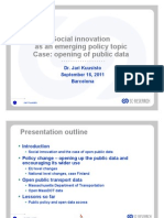 Open public data as a driver of social innovation