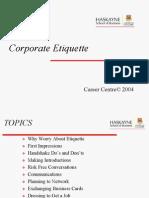 Corp Etiquette