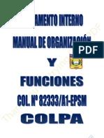 REGLAMENTO INTERNO Y MANUAL DE ORGANIZACIÓN 2011-COLPA
