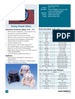 PVC-PP-PVDF Swing Check Valve Specifications
