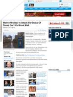 Group of Black and Hispanic Teens Attack Four White Men