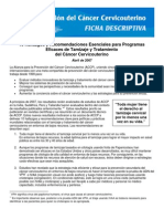 ACCP Recs 2007 Factsheet Spanish