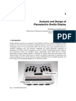 Analysis and Design of Piezoelectric Braille Display