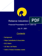 Presentation-reliance Industries Ltd